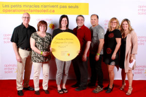Remise des dons au téléthon Opération Enfant Soleil 2019